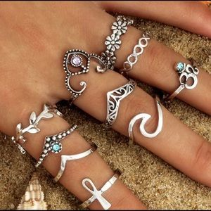 Jewelry - 10 piece Ring Set